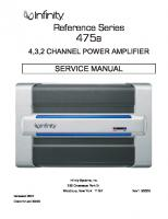 Infinity 475A Car Audio Amplifier
